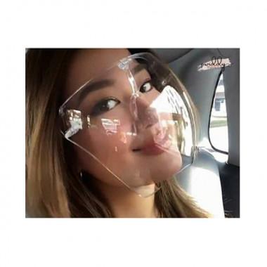 Gennemsigtig genanvendelig anti-tåge-beskyttende ansigtsmaske
