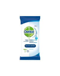Denttol Power & Pure Bathroom Cleaning Wipes 72 stk.