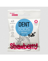 Denttabs - Tandpasta tabletter Børn - Jordbær - m/fluor - 125