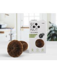 EcoCoconut - Kokos tawashi skurebørste uden plastik - 2stk