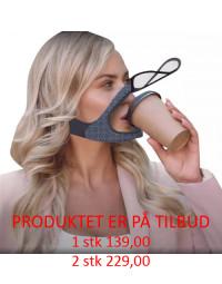 Genanvendelig maske som du nemt kan drikke fra