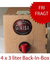 Kirsebærsaft fra Gikisa - 4 x 3 liter Back-In-Box