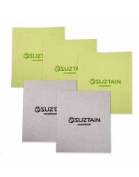 Suztain - Karklud uden mikroplast - 5pak - Grøn & Grå